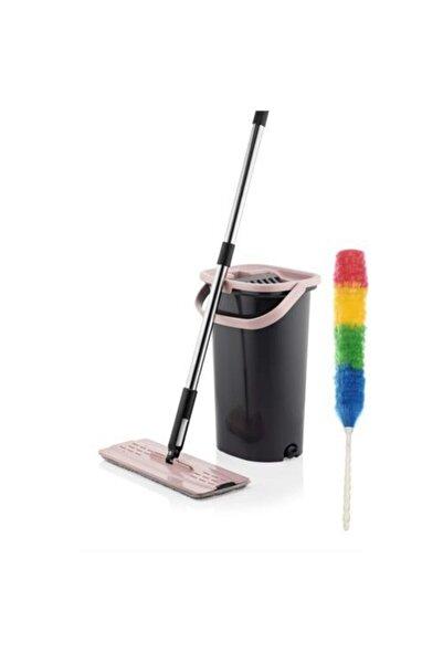 HomeCare Silgeç Çift Hazneli Kovalı Sıkmalı Tablet Mop Temizlik Püskül Hediyeli 714727