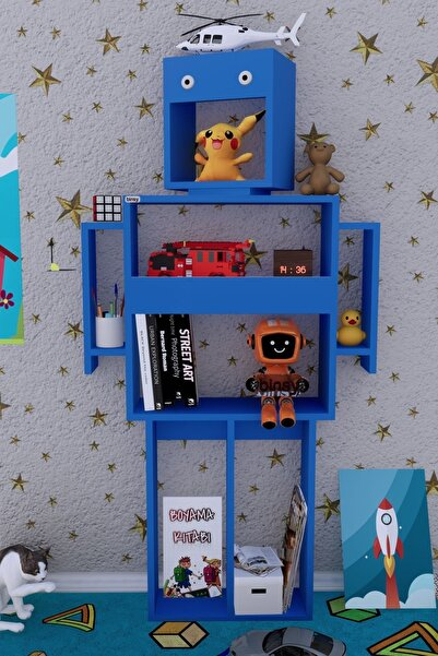 Binsy Robokit Mavi Robot Kitaplık