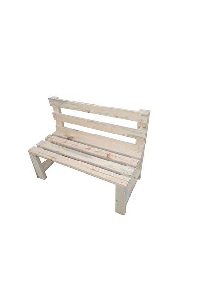 BenlikBu Ben/line Wood Masif Ahşap Natürel Bank Çam Ağacından 100x40x40x4 Cm