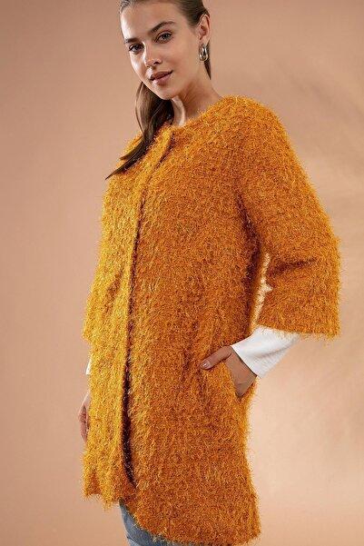 Pattaya Kadın Yakasız Çıt Çıt Detaylı Simli Sakallı Ceket Y19w127-11065-1
