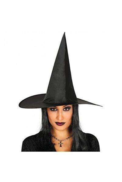 BAK BEĞEN AL Halloween Yetişkin Boy Siyah Cadı Şapkası Ve Uzun Siyah Cadı Peruğu
