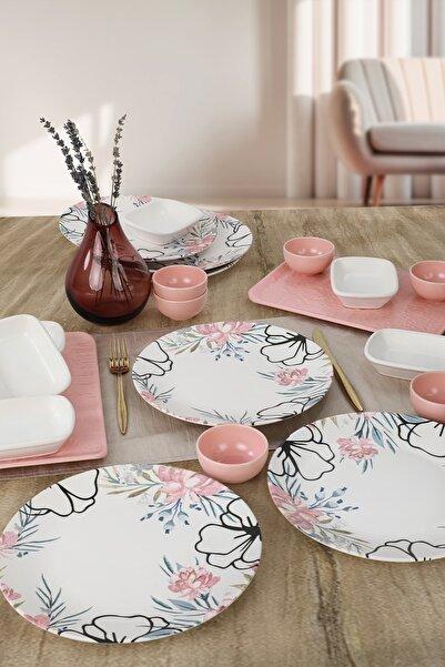 Keramika Rossy Kahvaltı Takımı 20 Parça 6 Kişilik