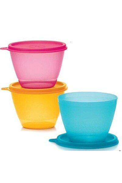 Tupperware Renkli Buzdolabı Kapları 3'lü Set / 400 ml