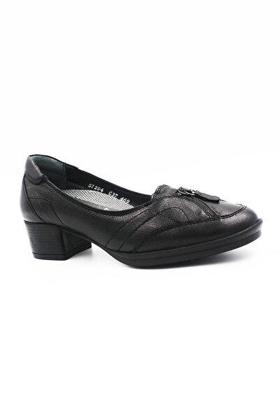Forelli Hakiki Deri Kadın Günlük Topuklu Ayakkabı