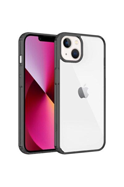Buff Iphone 13 Air uyumlu Hybrid Kilif Duman Siyahi