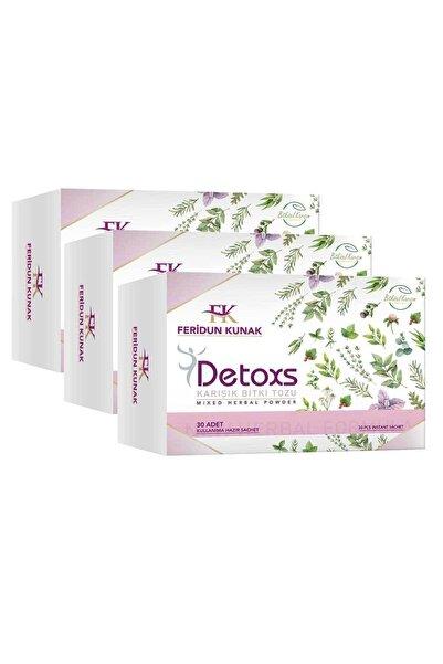 Feridun Kunak Detoxs Karışık Bitki Tozu Feriduk Kunak Detoxs Çayı 3 Kutu 90 Günlük Kullanım
