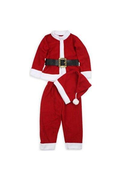 Mashotrend Küçük Yaş Erkek Noel Kostümü - Noel Baba Kostümü - Yılbaşı Kostüm - Happy Christmas - Noel Kostüm