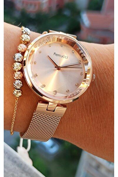 Ferrucci Tasarım Bayan Kol Saati+bileklik Hediyeli