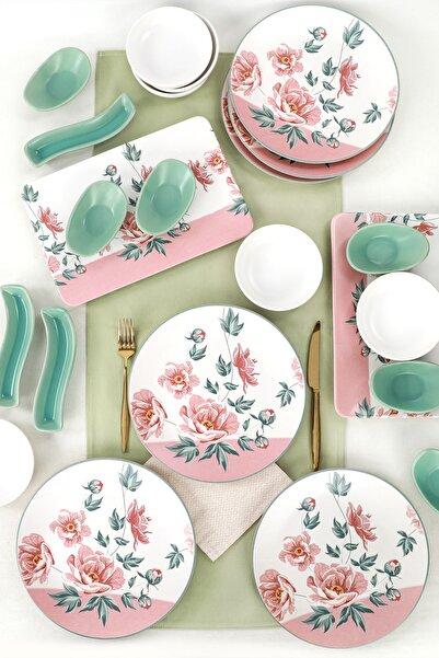 Keramika Rosette Kahvaltı Takımı 23 Parça 6 Kişilik