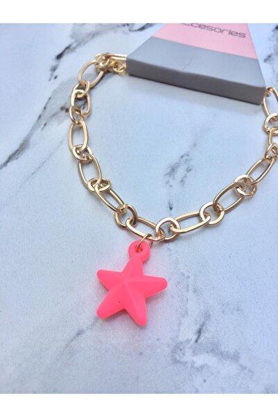Accessories Pembe Neon Deniz Yıldızı Bileklik