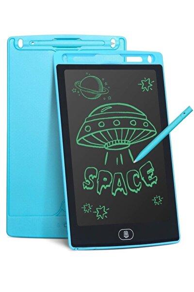 DoğubeyStore Writing Tablet Lcd 8.5 Inç Dijital Kalemli Çizim Yazı Tahtası Grafik Not Yazma Eğitim Tableti-mavi