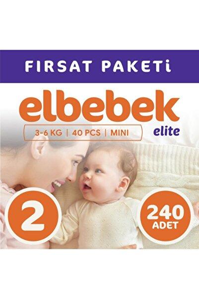 ELBEBEK ELİTE Bebek Bezi 2 Numara Mini 240 Adet