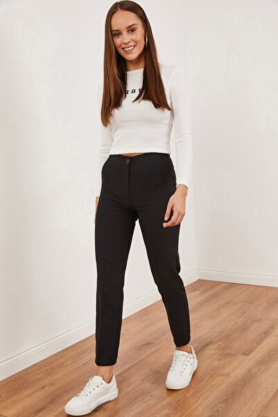 Hadise Klasik Kumaş Pantolon Siyah