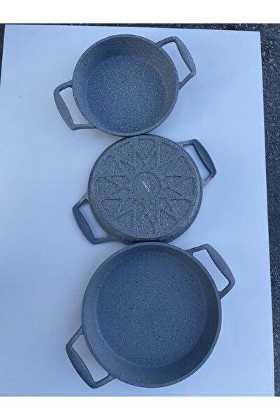 Bondy Pirizma Döküm Granit Omlet Sahan Set 3'lü