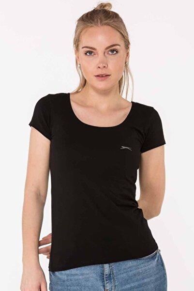 Slazenger Yulya Kadın T-shirt Siyah
