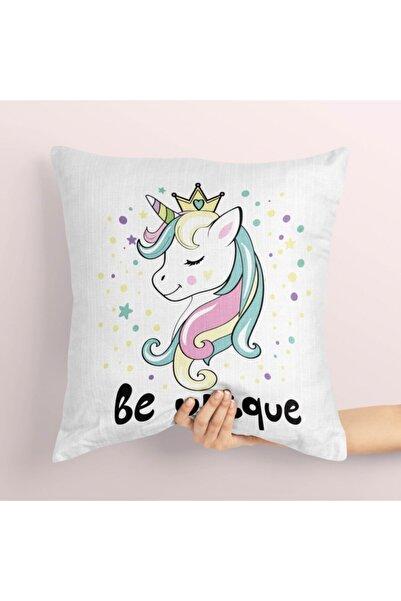 Tropikhome Prenses Unicorn Çocuk Kırlent Kılıfı