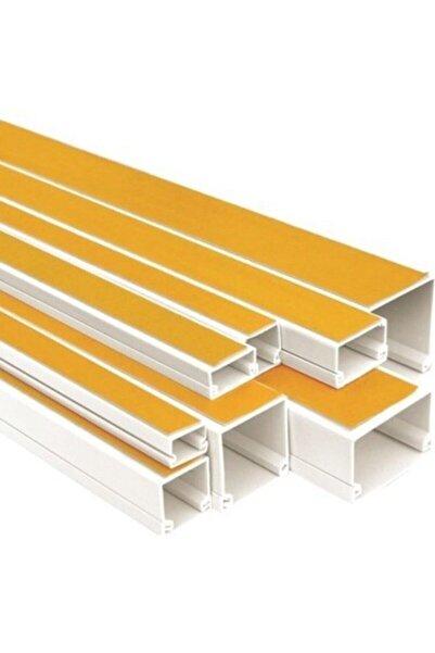 PLUSTIC Plastik Yapı Elemanları 12x12 Yapışkanlı Kablo Kanalı 2mt * 5 Adet