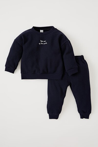DeFacto Erkek Bebek Regular Fİt Baskılı 2'li Takım V1639A221WN