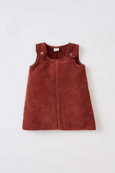 DeFacto Kız Bebek Regular Fit Kadife Elbise