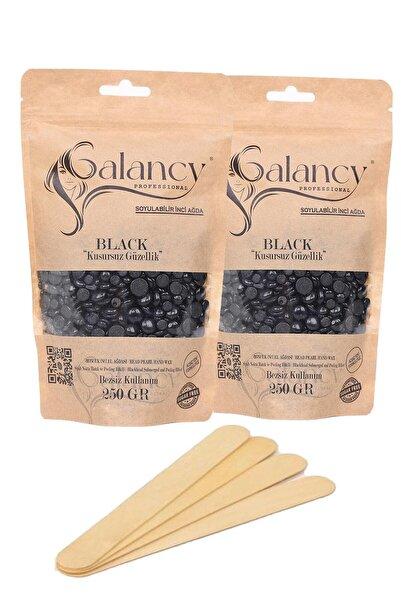 Galancy Soyulabilir Siyah Nokta Batık Ve Peeling Etkili Boncuk İnci El Ağdası 2x250gr Spatula