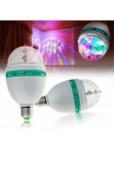 KİNGDOWS Serhat Renkli Disko Ampulü Lambası Dönen Disco Topu E27 Duy Led Ampul