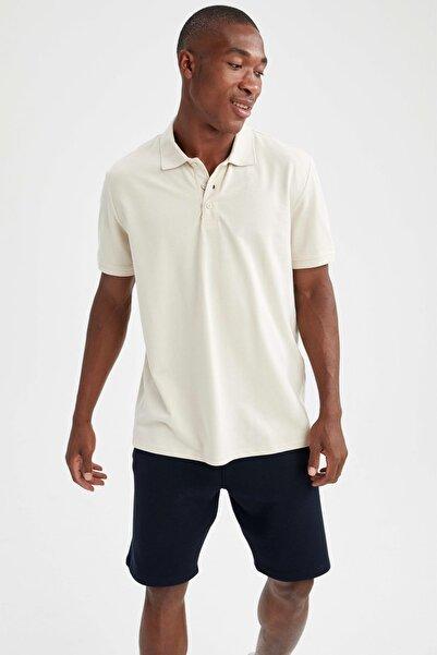 DeFacto Regular Fit Polo Yaka Basic Kısa Kollu Tişört