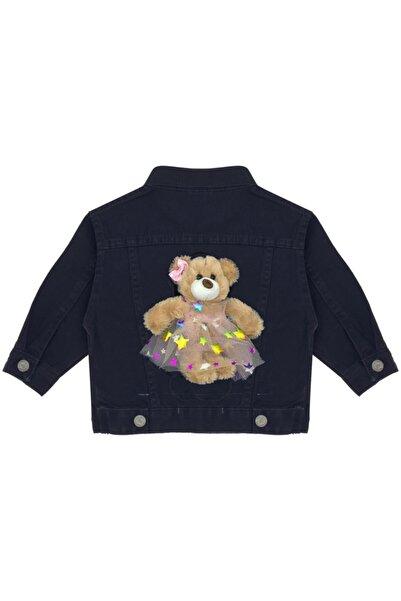 Kids Of Heart Siyah Kahve Elbiseli Ayıcıklı Kot Ceket