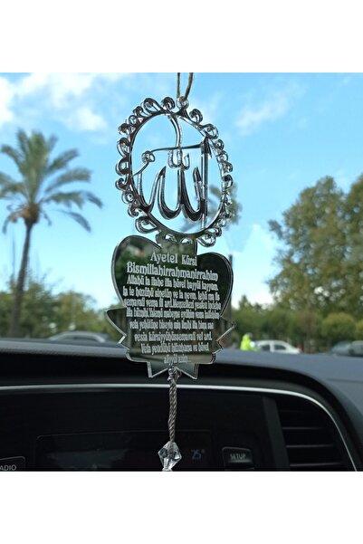 Mony Tasarım Pleksi Araba Süsü Allah Lafzı Motifli Dikiz Aynası Süsü