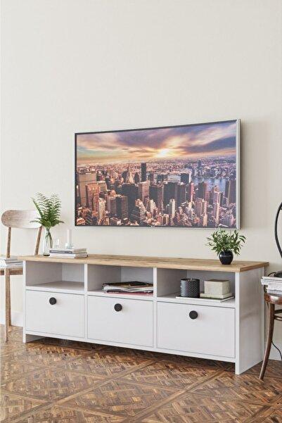 Haus Modüler Haus Ahşap Dekoratif Tv Ünitesi
