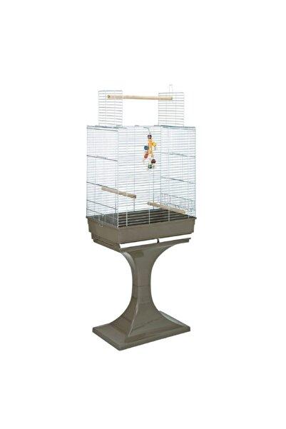 Mps Fop Soraya Cromo Sehpalı Üst Açılır Papağan Kafesi 66x45x70+70 Cm