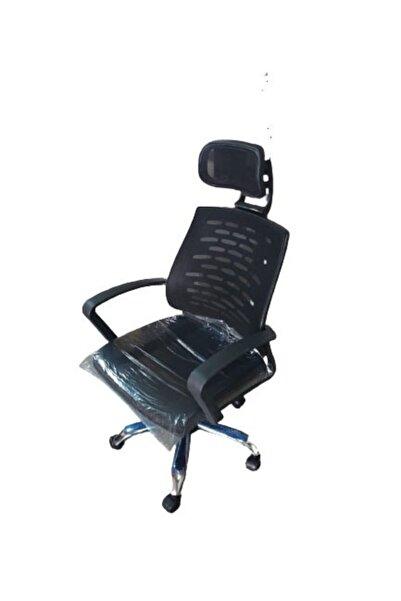 AYANAVM Siyah Fileli Bilgisayar Ofis Çalışma Sandalyesi Koltuğu Makam Koltuğu