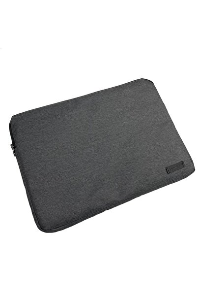 D'VERS Füme Su Geçirmez Fermuar Detaylı Unisex 15-15,6 Inç Uyumlu Macbook Kılıf Notebook Laptop Çantası