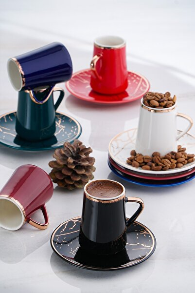 ACAR Mina 6lı Porselen Kahve Fincan Takımı