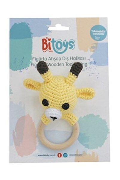 Bitoys Kız Erkek Bebek Zürafa Çıngıraklı Amigurimi Diş Kaşıyıcı Sarı
