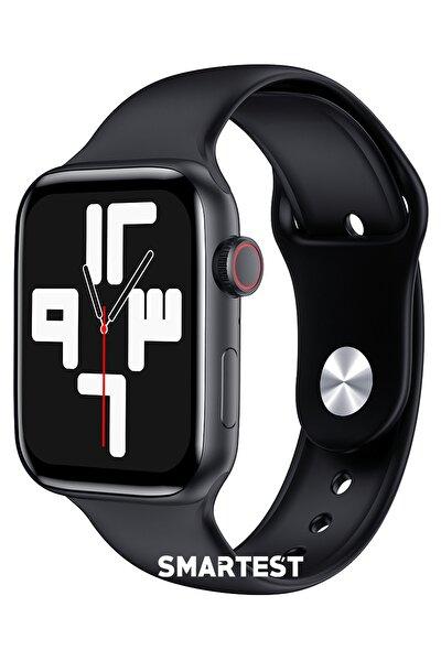SMARTEST Çift Tuş Wireless Şarj Son Sürüm Smartwatch Ip67 Suya Dayanıklı Tüm Telefonlarla Uyumlu Akıllı Saat