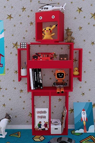 Binsy Robokit Kırmızı Robot Kitaplık