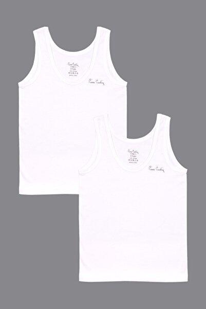 Pierre Cardin Erkek Likralı Beyaz 2'li Atlet 301970