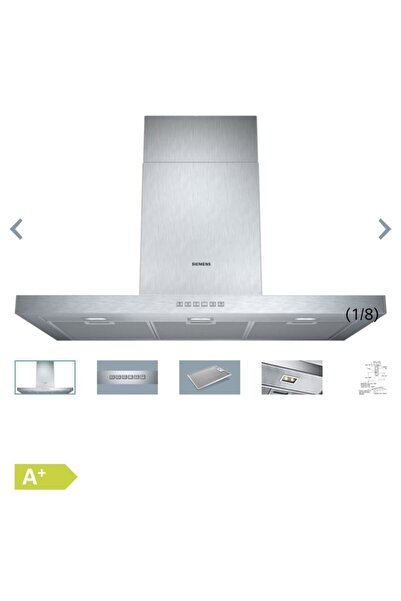 Siemens Ankastre Davlumbaz Duvar Tipi 90 Cm Lc97bc532