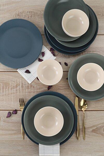 Keramika Ege Degrade Mat Yemek Takımı 12 Parça 4 Kişilik