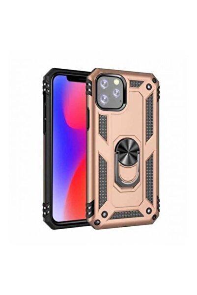 UcuzaSenin Iphone 11 Pro Yüzüklü Telefon Kılıfı / Telefon Kabı Gold