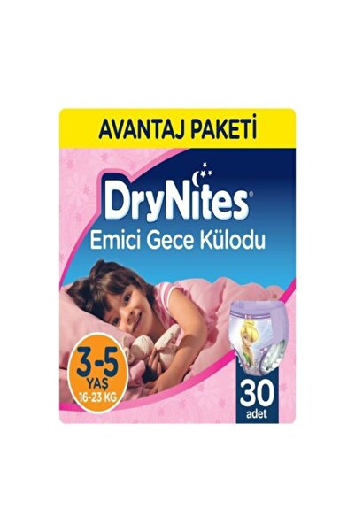 Huggies Drynites Kız Gece Külodu 3-5 Yaş 3*10 30 Adet