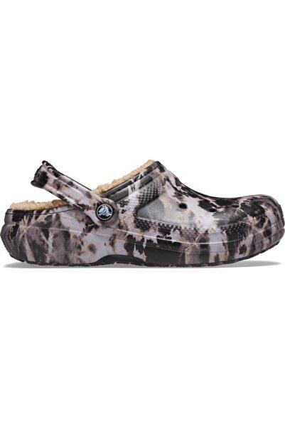 Crocs Classic Lined Bleach Dye Clog - Black