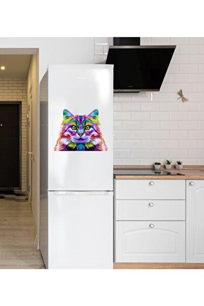 MimOzalit Renkli Kedi Büyük Boy Buzdolabı Magneti - 52x40cm