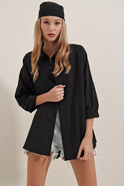 Bigdart 3900 Oversize Uzun Basic Gömlek