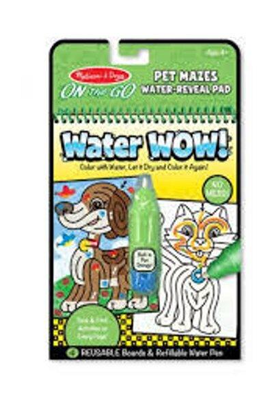 Melissa & Doug Water Wow Su Ile Boyama Kitabı Evcil Hayvanlar Bulmaca
