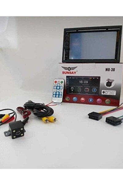 SUNSAY MB-30 7inç Double Teyp Gece Görüşlü Park Kamerası Hediyeli Bluetooth Mp5