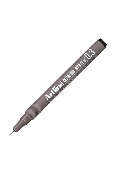 artline Çizim Kalemi Siyah 03 Uçlu