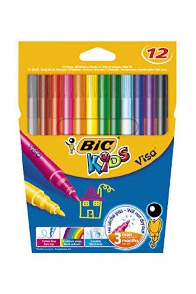 Bic Kids Visa Keçeli Boya Kalemi 12 Renk
