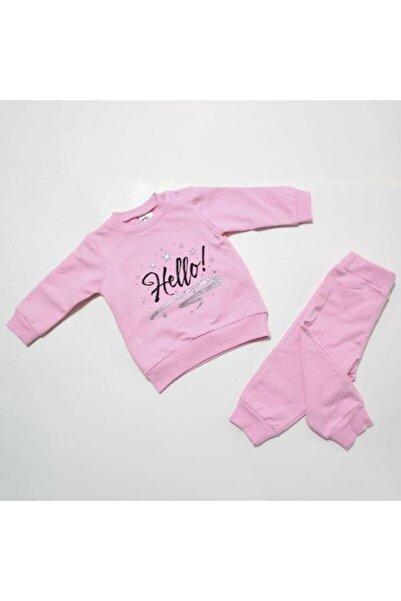 Misket Hello Baskılı Astarlı Kışlık Pijama