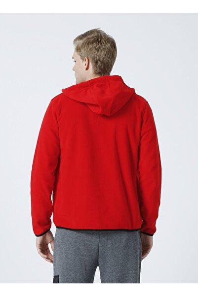 LİMON COMPANY Limon Kapüşonlu Regular Fit Kırmızı Erkek Sweatmont